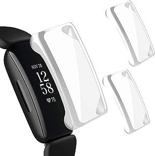 Miimall【2枚入り】Fitbit Inspire2 ケース Fitbit Inspire2カバー 落下防止 全面保護 超軽量 耐衝撃 脱着簡単 フィットビットInspire2 カバー Fitbit Inspire2 保護ケース(透明*2)
