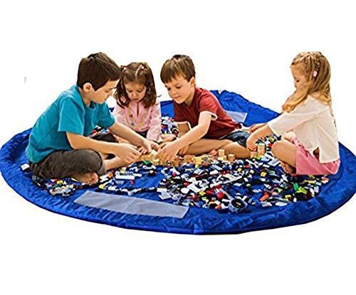 Ferryman – Tragbare Spielzeugmatte zum Verschließen, 150cm groß, für den Einsatz im Innen- und Außenbereich, perfekt für Bauklötze und Legosteine