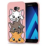 Pnakqil Funda Samsung Galaxy A5 2017 Rosa Ultrafina y Ligero Flexible Soft Carcasa TPU Suave Silicona Case Anti Golpes Bumper Protectora Cover para Teléfono Samsung GalaxyA5, Cerdo