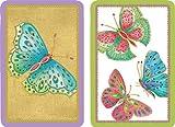 Caspari Bridge Playing Card Gift Set, Jeweled Butterflies, 2 Decks and Score Pads, Multicolor (PC117J)