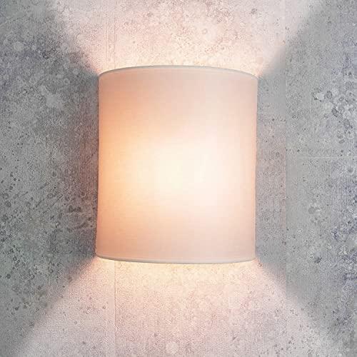 Applique per interni Alice lampada da parete chic per loft stile moderno in stoffa bianco E27 ideale per camera da letto soggiorno