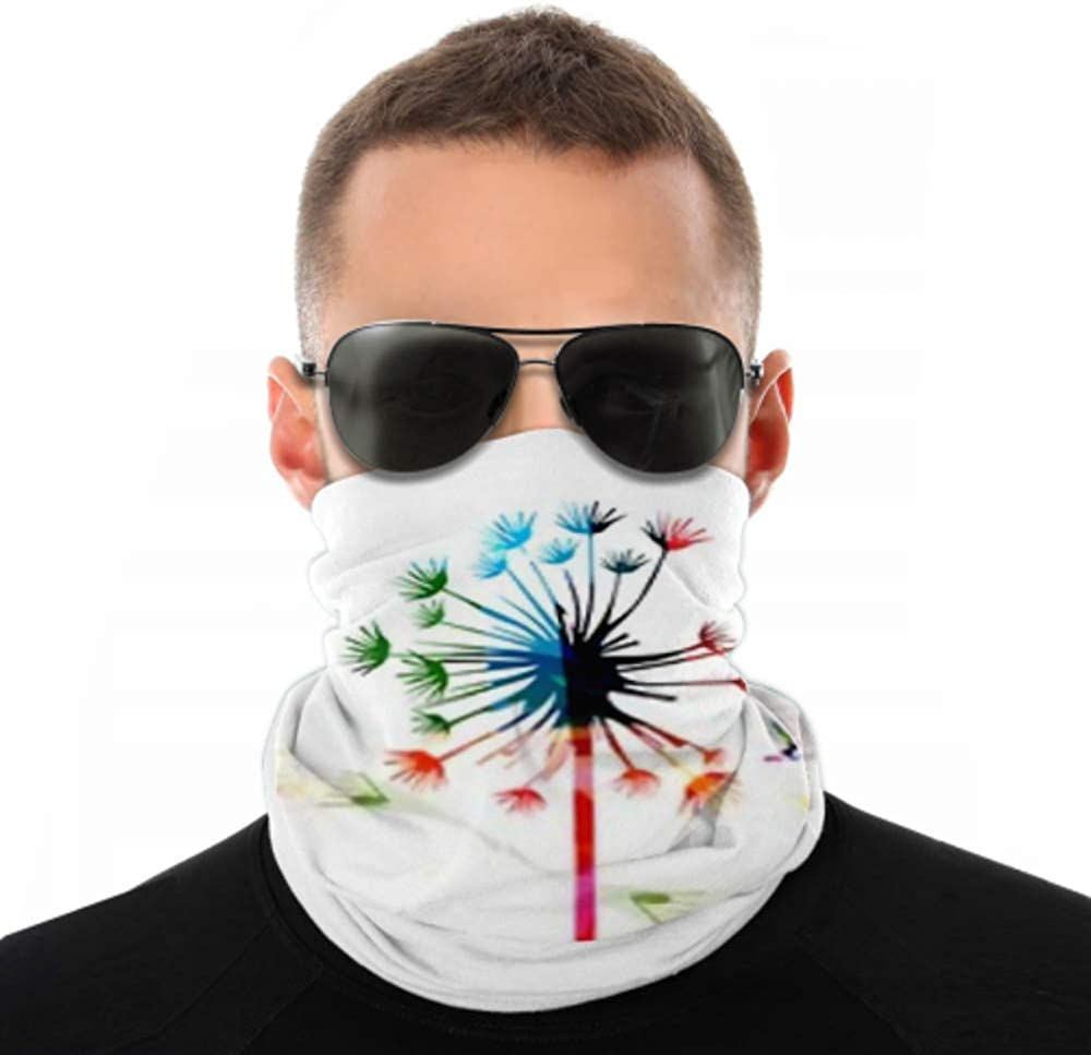 Headbands For Men Women Neck Gaiter, Face Mask, Headband, Scarf Colorful Dandelion Music Notes Hummingbirds Turban Multi Scarf Double Sided Print Scarf For Sport Outdoor