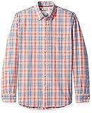 Amazon Brand - Goodthreads Men's Standard-Fit Long-Sleeve Chambray Shirt, Red Plaid, Medium