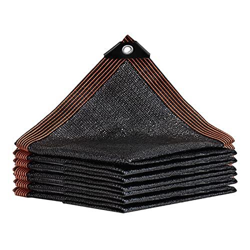 BSLBBZY 85% Sunblock Veranda Thades Netting, Tela de Sombra Negra con Ojales, Patio al Aire Libre/Camas de jardín/de Coche/Cubierta con Dosel UV Toldos Terraza Resistente (Size : 2MX5M)