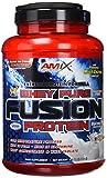 AMIX, Proteína Whey, Pure Fusión, Concentrado de Suero Ultra Filtrado, Sabor coco y chocolate, Proteínas para Aumentar Masa Muscula, Proteína Isolada con Splenda, Contiene L-glutamina , 1 Kg