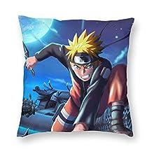 ZESEDE Fundas de Almohada Funda de cojín de Anime Funda de Almohada Comic Cartoon Throw Pillow Funda para sofá Sala de Estar Dormitorio Decoración de Dormitorio 18x18 Pulgadas (45x45cm)