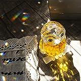 H & D Kristall Figur Eule Kollektion Briefbeschwerer Tisch Mittelpunkt Ornament, gelb - 4