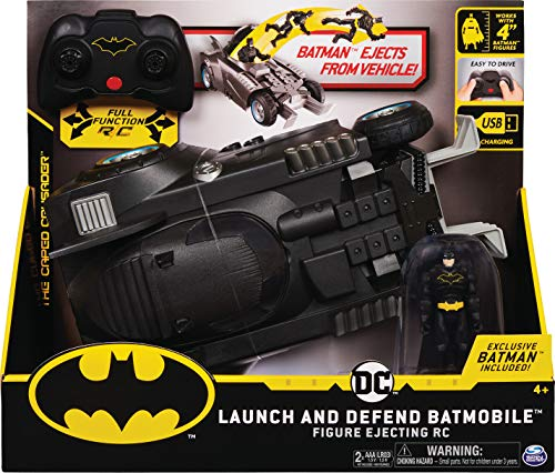 Batman, Batmobile Radiocomandata Launch And Defend, con Sedile Ad Espulsione, dai 4 Anni - 6055747