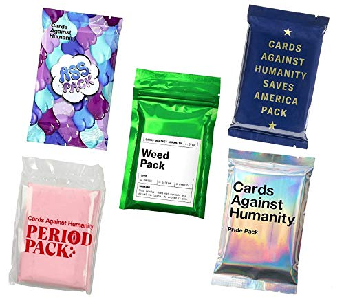 Cards Against Humanity Weed amp Period amp Pride amp Ass Pack amp Saves America
