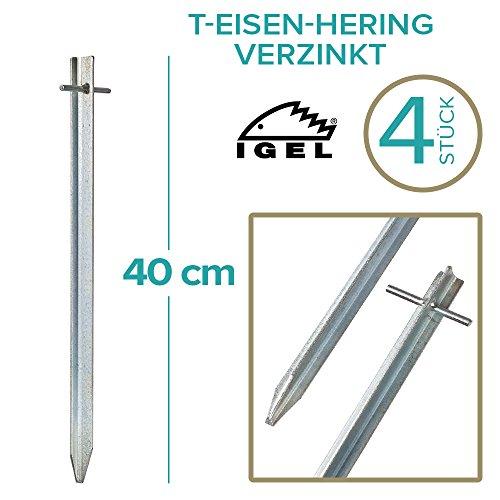 IGEL T-Eisen-Hering 40cm verzinkt 4/12 / 25 / 50er Sets (4 Stück)