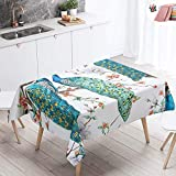 Home Decoration Tablecloths Large Waterproof Table Cloth Wipeable Stain-Resistant Oil-Proof Tropical Animals Printed Table Cover for Dining Garden Party (Brown giraffe 160x140cm)