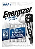 Energizer AAA Batteries, Ultimate Lithium, Pack of 4