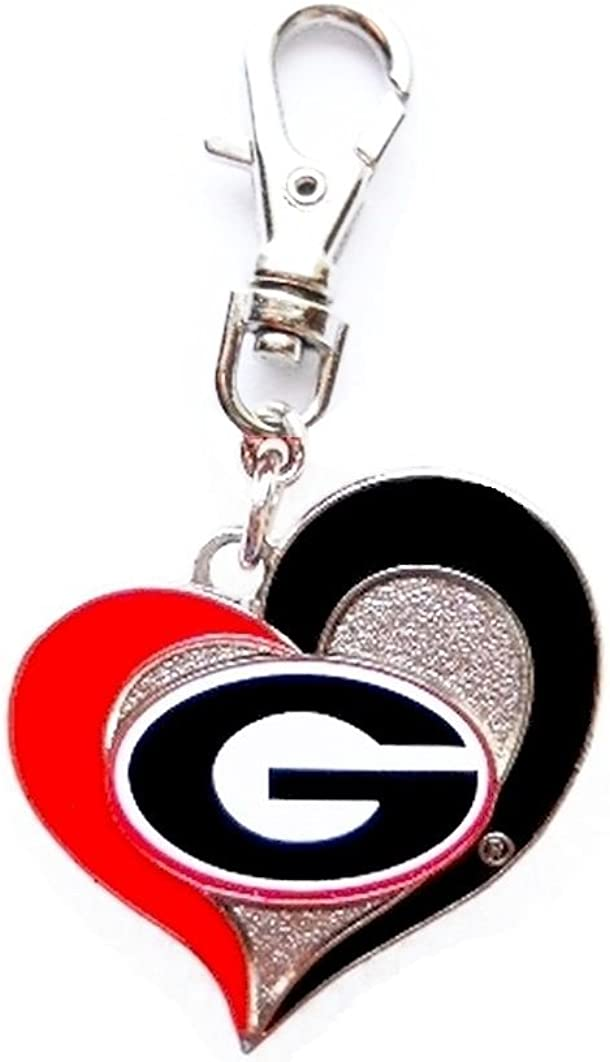 UGA UNIVERSITY OF GEORGIA BULLDOGS Recommended HEART ADD TEAM Quality inspection CHARM ZIPPE TO