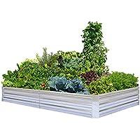 Foyuee Galvanized Raised Garden Bed