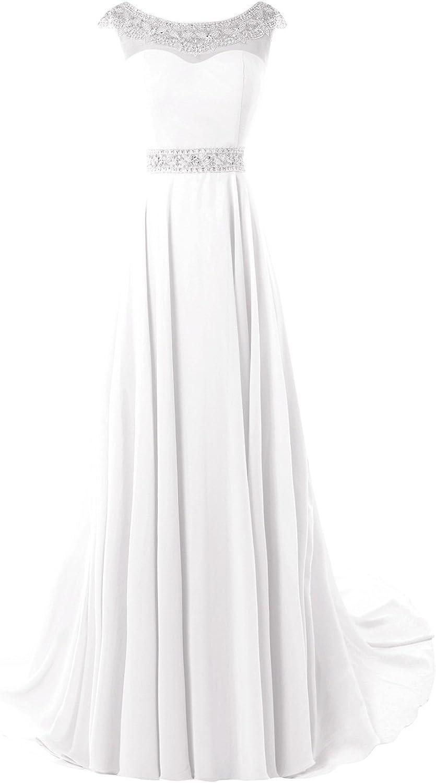 Bess Bridal Women's A Line Scoop V Back Formal Prom Dresses