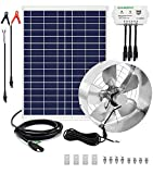 ECO-WORTHY 25-Watt Solar Fan System Kit with 65W DC Motor Solar Attic Fan with USB Controller, Cool Your Attic and Protect Your Home All Year Long
