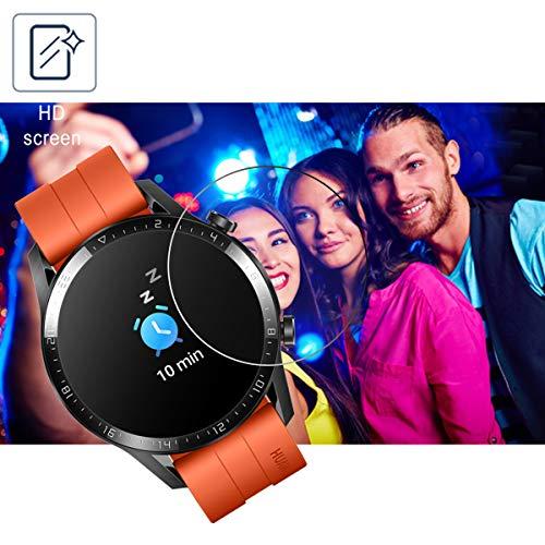 SPGUARD Schutzfolie Kompatibel mit Huawei Watch GT 2 46mm Schutzfolie [3 Stück] für Huawei Watch GT 2 46mm Panzerglas [2.5D 9H Härte] [Blasenfrei] - 4