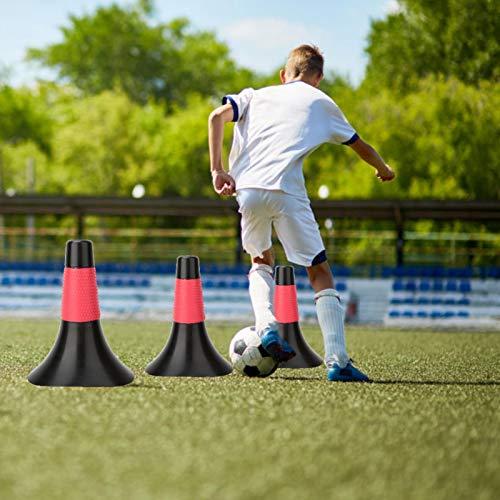 DAUERHAFT Material de PP de Marcador de fútbol de obstáculo de Entrenamiento de Cono de Entrenamiento de fútbol para una Variedad de Deportes al Aire Libre