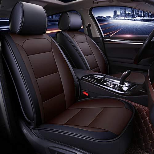 Universele lederen autostoelhoezenset, complete set vijfzits autokussens, stoelbeschermers set voor de meeste auto's SUV's