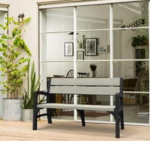Allibert Bank Montero 2-Sitzer, graphit/brownish grey