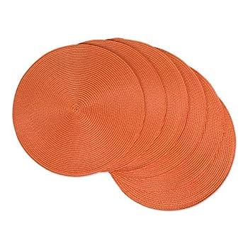 orange placemats