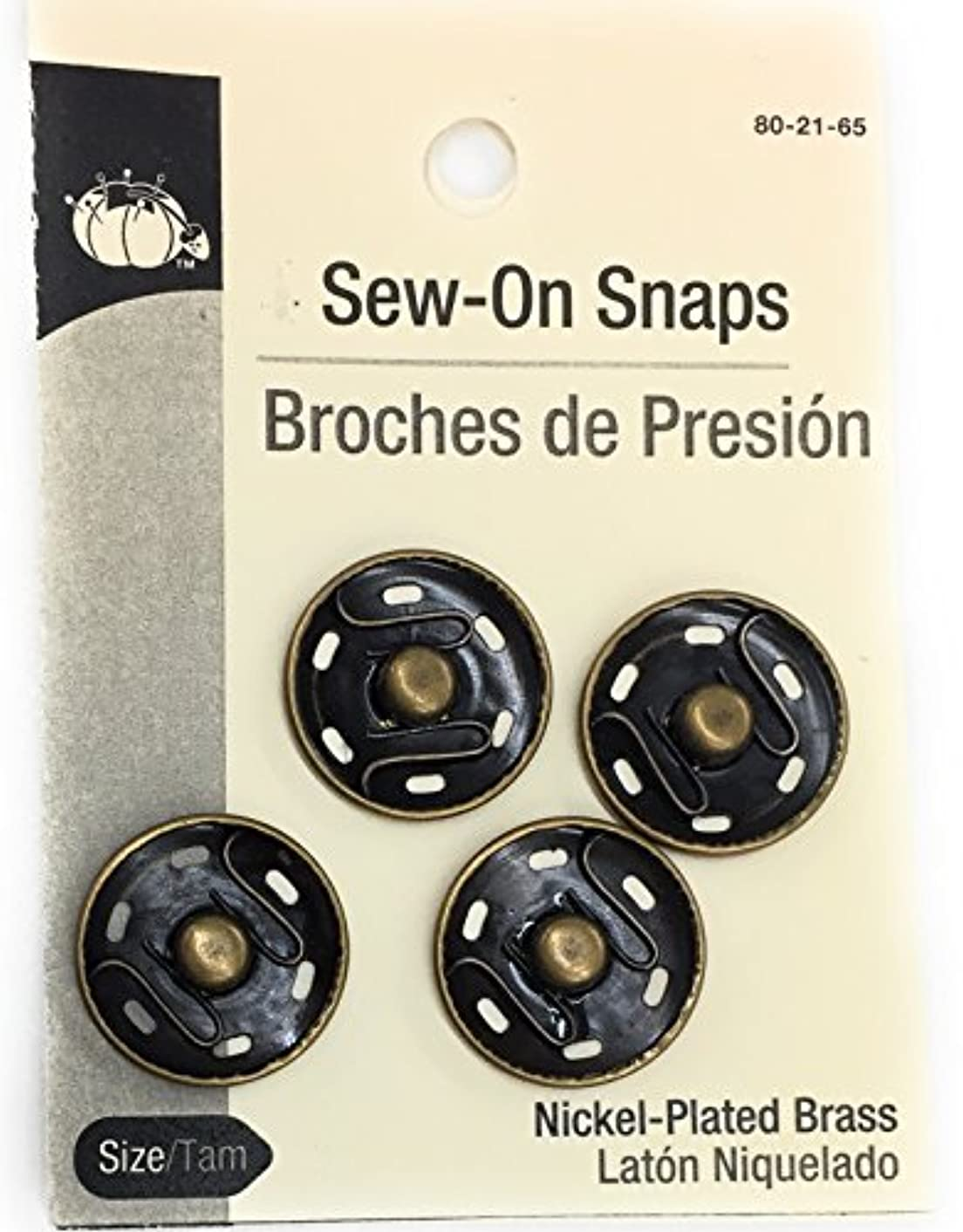 4 Large Snaps Sew-on, Bronze 21mm -7/8