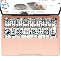 igsticker MacBook Air 13inch 2018 専用 キーボード用スキンシール キートップ ステッカー A1932 Apple マックブック エア ノートパソコン アクセサリー 保護 004490 その他 マリン 模様 緑