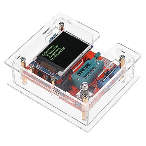 Comprobador de transistor multiuso GM328 DIY Kit multifuncional para Detección Automática de Transistores NPN y PNP FET Square Wave Generador de Señal Diodo Capacitancia Voltaje