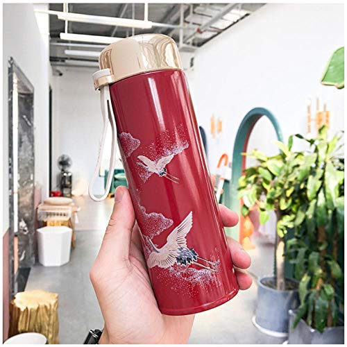Wgath 320 Ml Chinese Retro-Stijl Thermos Thee Thermoskan Met Filter Roestvrijstalen Thermische Cup Koffiemok Office Business Waterfles B
