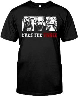 Akimiva Free The Three 3 from Hell T Shirt Free The Three Rob Zombie T Shirt