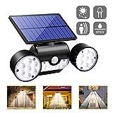 Luci Solari Lampada Led Applique Luci da Esterno con Sensore Movimento 360 °Regolabile 30...