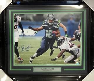 Tyler Lockett Signed Framed 16 x 20 Photo Seattle Seahawks - Autographed NFL Football Photos