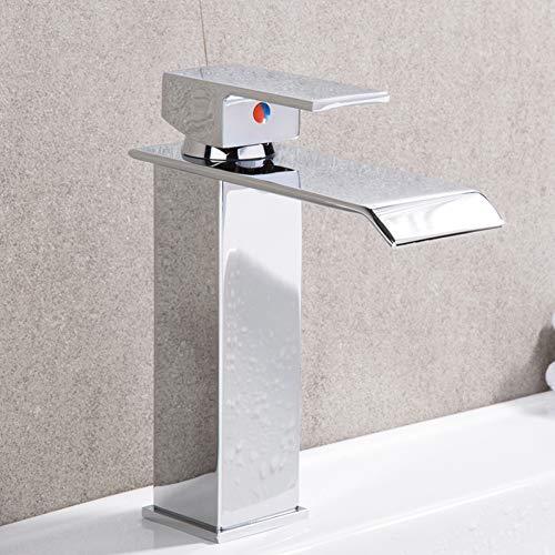 WHFDRHSLT wastafelkraan badkamer wastafel waterkraan mengkraan eengat montage messing waterkraan waterval