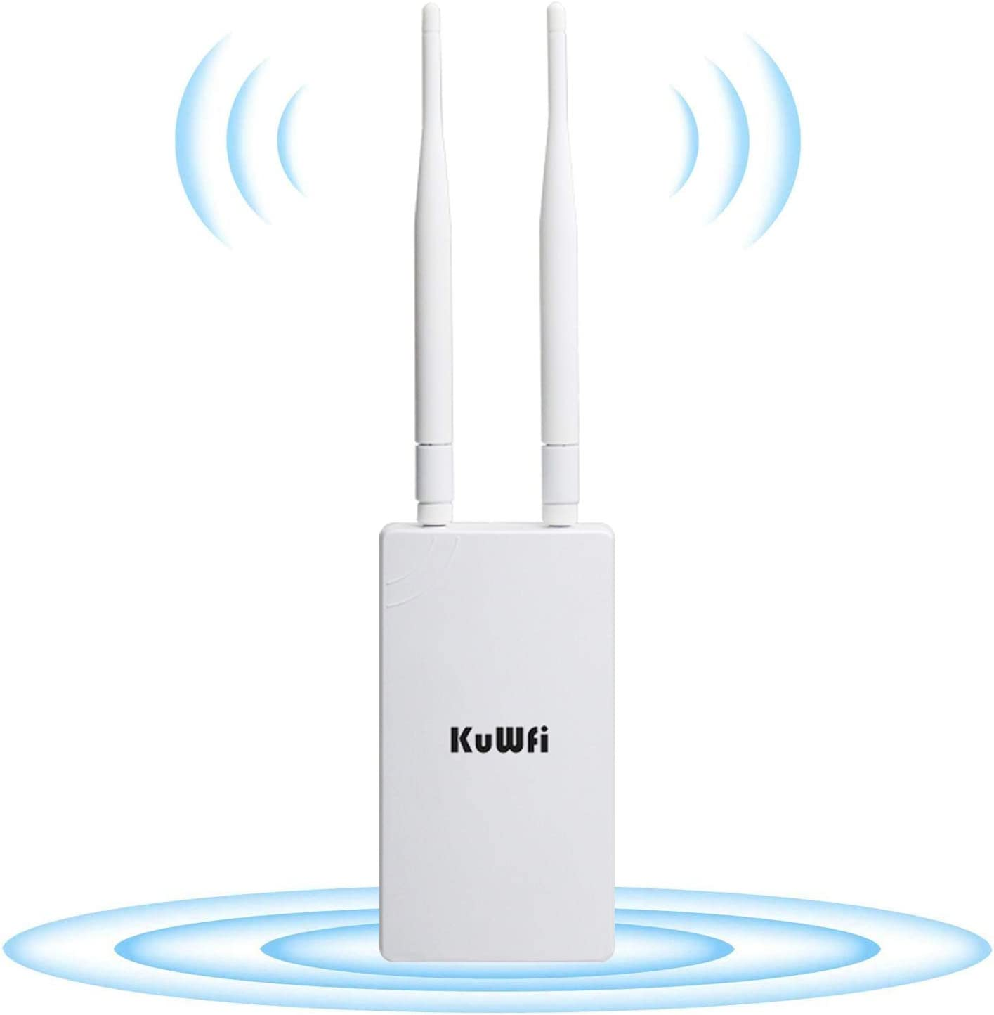 KuWFi Outdoor Wireless Access Point Long Range WiFi Router 300Mb