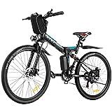 VIVI Folding Electric Bike, Electric Mountain Bike 350W Ebike 26'' Electric Bike for...