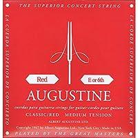 【国内正規品】バラ弦 AUGUSTINE オーガスティン クラシックギター弦 RED MEDIUM TENSION 6弦(E)