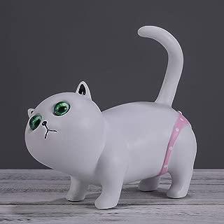 TONGZHENGTAI elegante con estilo Adornos decorativos creativo bajo la cintura del triángulo de la ropa interior del gato de resina artesanal Inicio Salón Dormitorio lindo animal de la novedad regalo d