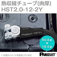 パンドウイット(PANDUIT) 肉厚熱収縮チューブ (黒) 収縮前内径50.8φmm 長さ304mm HST2.0-12-2Y (2本セット) NN