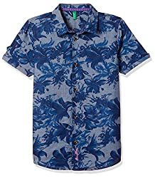 United Colors of Benetton Boys Floral Regular Fit Shirt