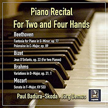 Piano Recital for Two and Four Hands