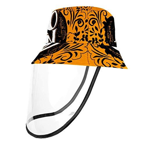 TIZORAX Happy Halloween (4) - Cappellino protettivo per naso e bocca con protezione antipolvere per adulti e bambini