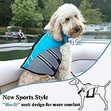 Vivaglory Neuartige Sport Style Ripstop Haustier Hunde-Schwimmweste mit überlegenem Auftrieb und Rettungsgriff - 4