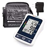 """LotFancy Blood Pressure Monitor, Automatic BP Gauge & Upper Arm Large Cuff(12'-17"""") Kit, Digital BP Meter Accurate Tester Machine for Home Use, 2 User, with 120 Reading Memory, Large LCD Display"""