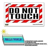 触らないでください - 12×6でで - ラミネート符号警告は警告しまするビジネスウィンドウステッカー