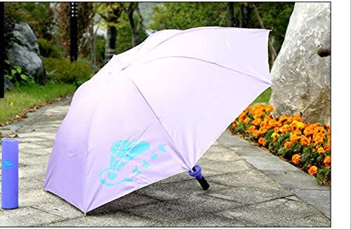 NJSDDB paraplu rode wijnfles paraplu persoonlijkheid winddicht vouwen dubbele laag parasol aangepaste logo paraplu in een fles, Licht Paars