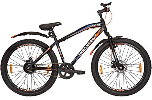 HERO CYCLE Monk 26×3.00 Fat Tyre Dual disc Break, Front Suspension, Single Speed Cycle for Adult,...