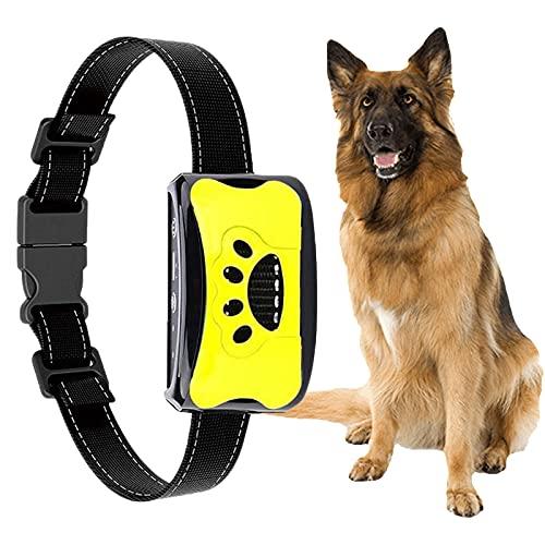 Automatisches Anti Bell Halsband,YIZHIGOU Erziehungshalsband Hund ,Wasserdicht Anti-Bell-Halsbänder No-Schock Geeignet für große Hunde, mittlere Hunde, kleine Hunde