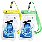Mpow 097 Universal Waterproof Case, IPX8 Waterproof Phone Pouch Dry Bag Compatible for iPhone 11/11 Pro Max/SE/Xs Max/XR/X/8P Galaxy up to 7', Phone Pouch for Beach Kayaking Travel or Bath (2 Pack)
