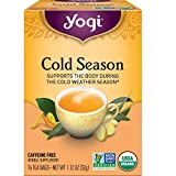 Yogi Tea - Cold Season (4 Pack) - Supports the Body During the Cold Weather Season - 64 Tea Bags