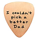 Fathers Day Gift Mens I couldn't Pick a Better Dad Guitar Pick Custom Gift for Daddy Papa Stainless Steel (Rose Gold)